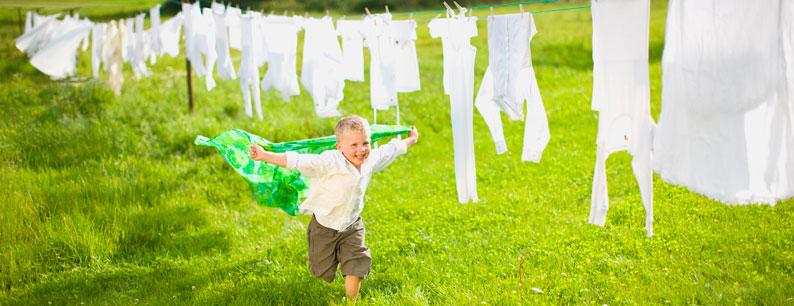 lavaggio con ozono per bucato igienizzato