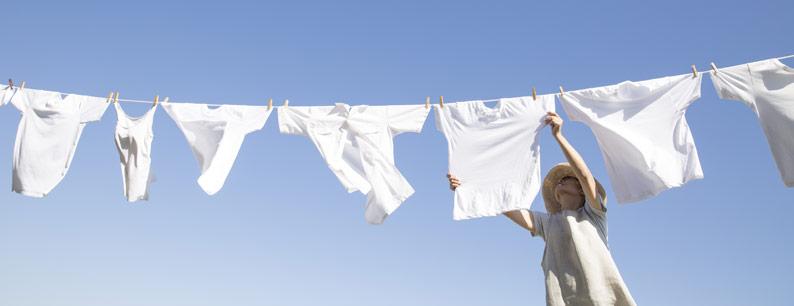 molecola dell'ozono per un bucato pulito e igienizzato
