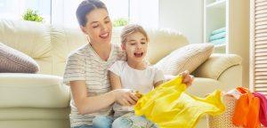 bucato pulito e fresco per famiglie
