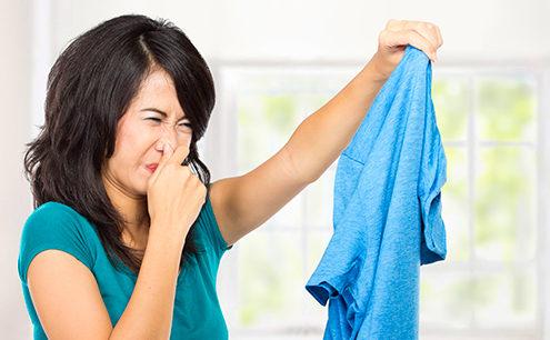 Cattivo odore dei panni lavati in lavatrice